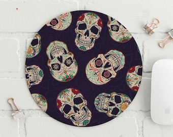 Mouse Mat PC Mouse Mat Computer Pad mexican skulls festival mask halloween azte Mexico Day of the Dead Mouse Pad Mouse Mat Desktop 9X7 inch