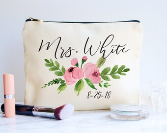 bride makeup bag bridal gift personalized wedding gift bridal shower gift bride gift makeup bag wedding gift bridal makeup bag bride