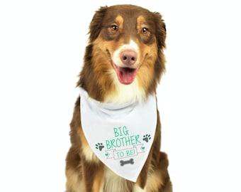 Big Brother Dog Bandana, Dog Pregnancy Announcement, Baby Announcement Dog, Dog Bandana, Personalized Dog Bandana, Dog Gift, Big Brother Dog