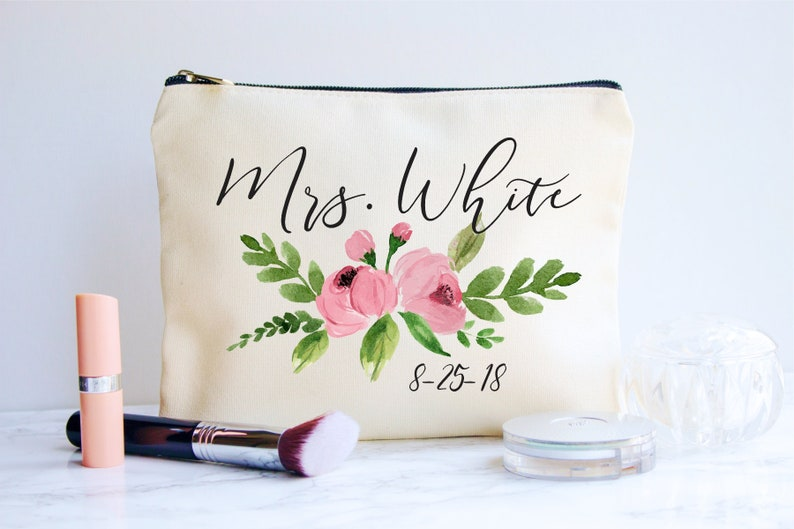 ba70ec925551 Bride Makeup Bag, Bridal Gift, Personalized Wedding Gift, Bridal Shower  Gift, Bride Gift, Makeup Bag, Wedding Gift, Bridal makeup Bag, Bride
