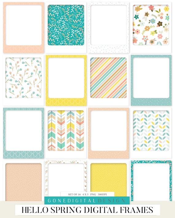 Bloom /& Grow Spring Bundle Scrapbook Paper Bundle Clipart Elements Bundle Spring Scrapbook Kits Printable Paper Printable Clip Art PNG Words