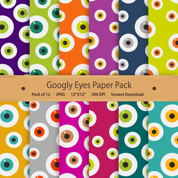 image about Printable Googly Eyes known as Googly Eyes Electronic Paper Halloween Paper Pack Printable