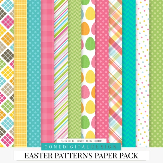 photo regarding Printable Patterned Paper named Easter Layouts Paper Pack Electronic Paper Easter History