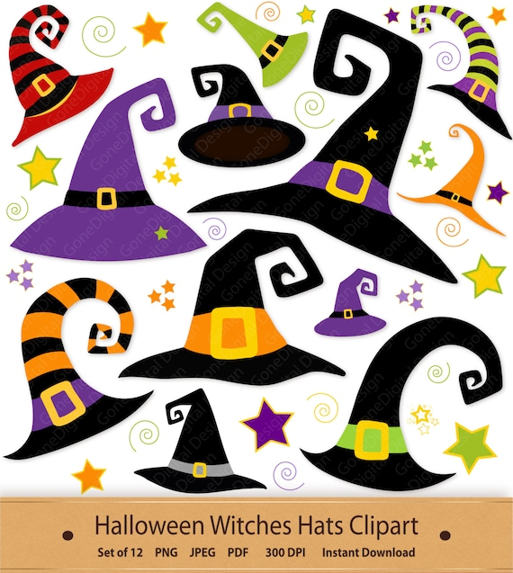 image regarding Witch Hat Printable titled Witches Hats Clipart Halloween Witch Hat Clip Artwork Witch Hat