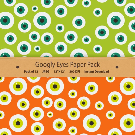 picture regarding Printable Googly Eyes titled Googly Eyes Electronic Paper Halloween Paper Pack Printable Halloween Practice Sbook Paper Monster Eyeball Clipart Red Orange Inexperienced Eyed