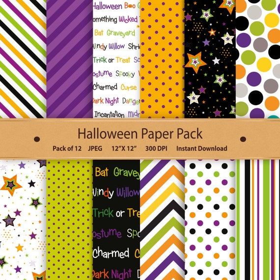 photo relating to Printable Halloween Paper identified as Halloween Electronic Paper Halloween Paper Pack Halloween Sbooking  Papercraft Halloween Printable Chevron Superstars Orange Eco-friendly Red 12x12