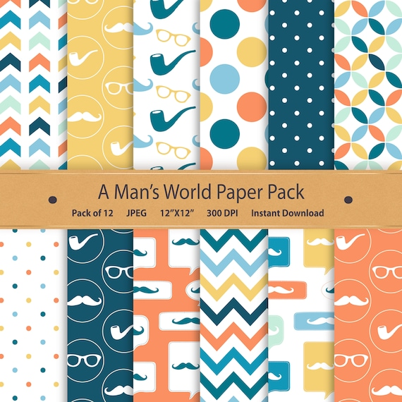 photo regarding Printable Paper Patterns named Blue and Orange Youngster Shower Printable Paper Pack Kid Boy