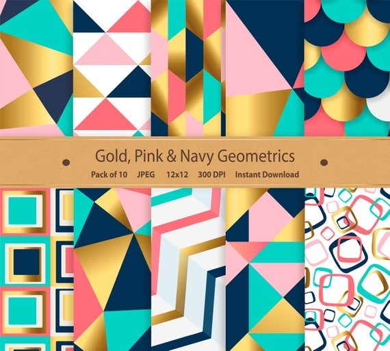 picture regarding Printable Foil Paper referred to as Geometric Electronic Paper Gold Foil Paper Printable Geometric