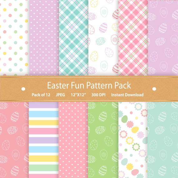Easter Digital Paper Pack Easter Paper Easter Scrapbook Etsy
