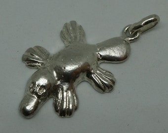 Sterling Silver Solid Platypus Pendant