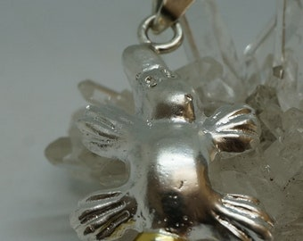 Sterling Silver and Gold Platypus Pendant