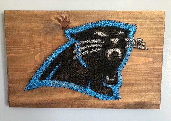 Carolina Panthers Nail String Art Carolina Panthers Wall Etsy