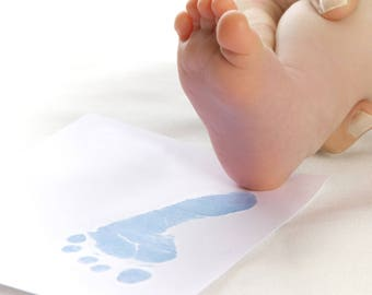 BABYink® Blue Colour Ink-less Print Kit - Non-Toxic, Baby Safe - Handprint | Footprint | Keepsake  | Baby Gift  | Baby ink  | Print Kit