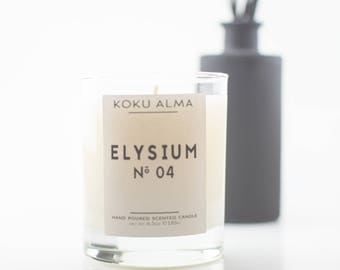 ELYSIUM (Fig) Scented Candle   Koku Alma Candles   Hand Poured Soy Wax   Luxury Candles   Minimalist Candles