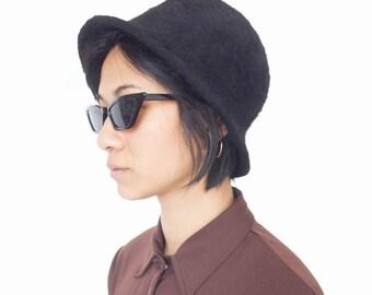 906a90cffae Vintage 90 s Black Winter Hat
