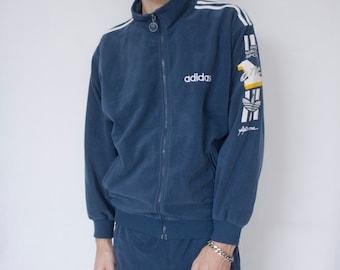 d4834b3cb68b Vintage Blue Adidas Track Jacket L -training