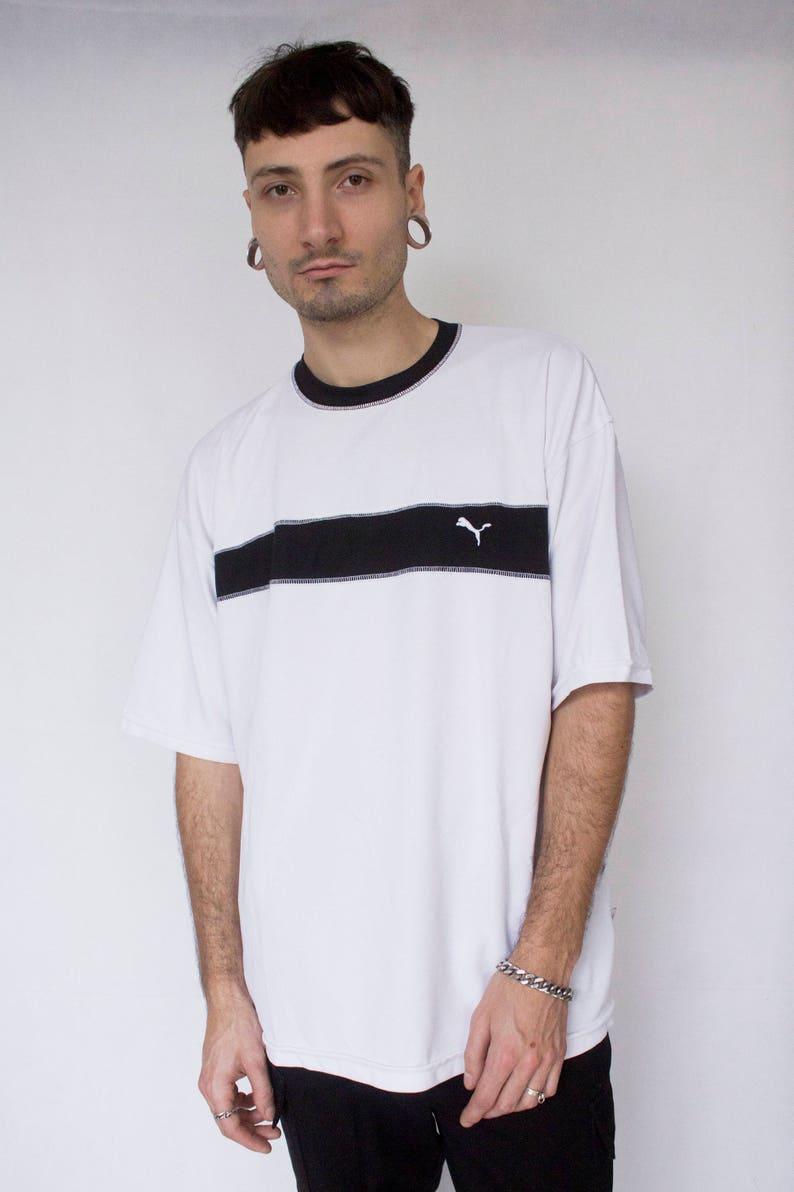 ab7ed88dcb5e 90s Puma tshirt XXL black white sportswear vaporwave