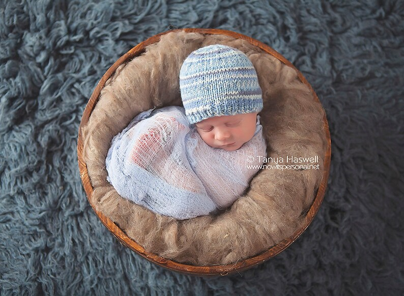 Hand Knitted Baby Hat Fairsile Photography Photo Prop Early Etsy
