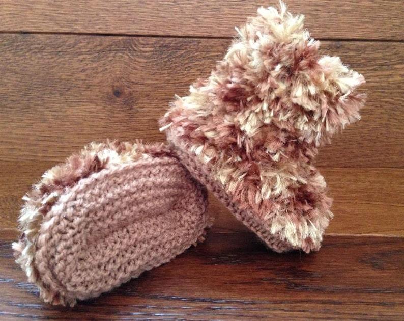 Baby Boys Girls Lovely Soft Teddybear Slippers Booties ☆