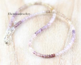 Auralite 23 Beaded Necklace in Sterling Silver, Gold or Rose Gold Filled, Mindfulness Gemstone, Meditation Quartz, Long or Choker for Women