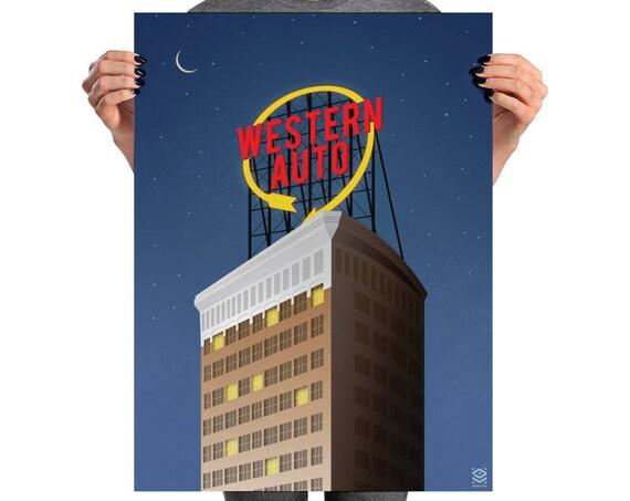 Western Auto Matte Litho Print
