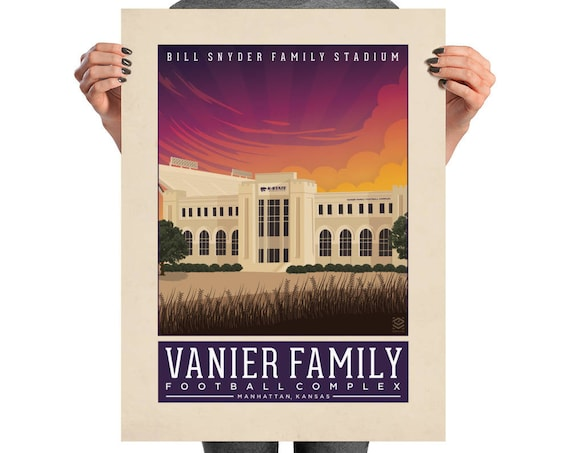 Bill Snyder Family Stadium Matte Litho Print