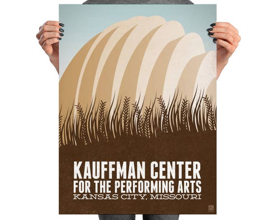 Kauffman Center Matte Litho Print