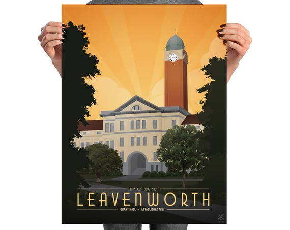 Fort Leavenworth Matte Litho Print