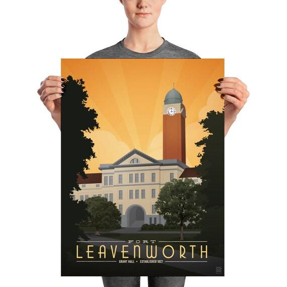 Fort Leavenworth Matte Litho Print