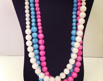 Pearl Silicone Bead Teething Necklace for Mommy! BPA, Lead & Metal Free!