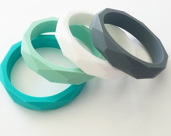 Silicone Teething  Bangle Bracelet