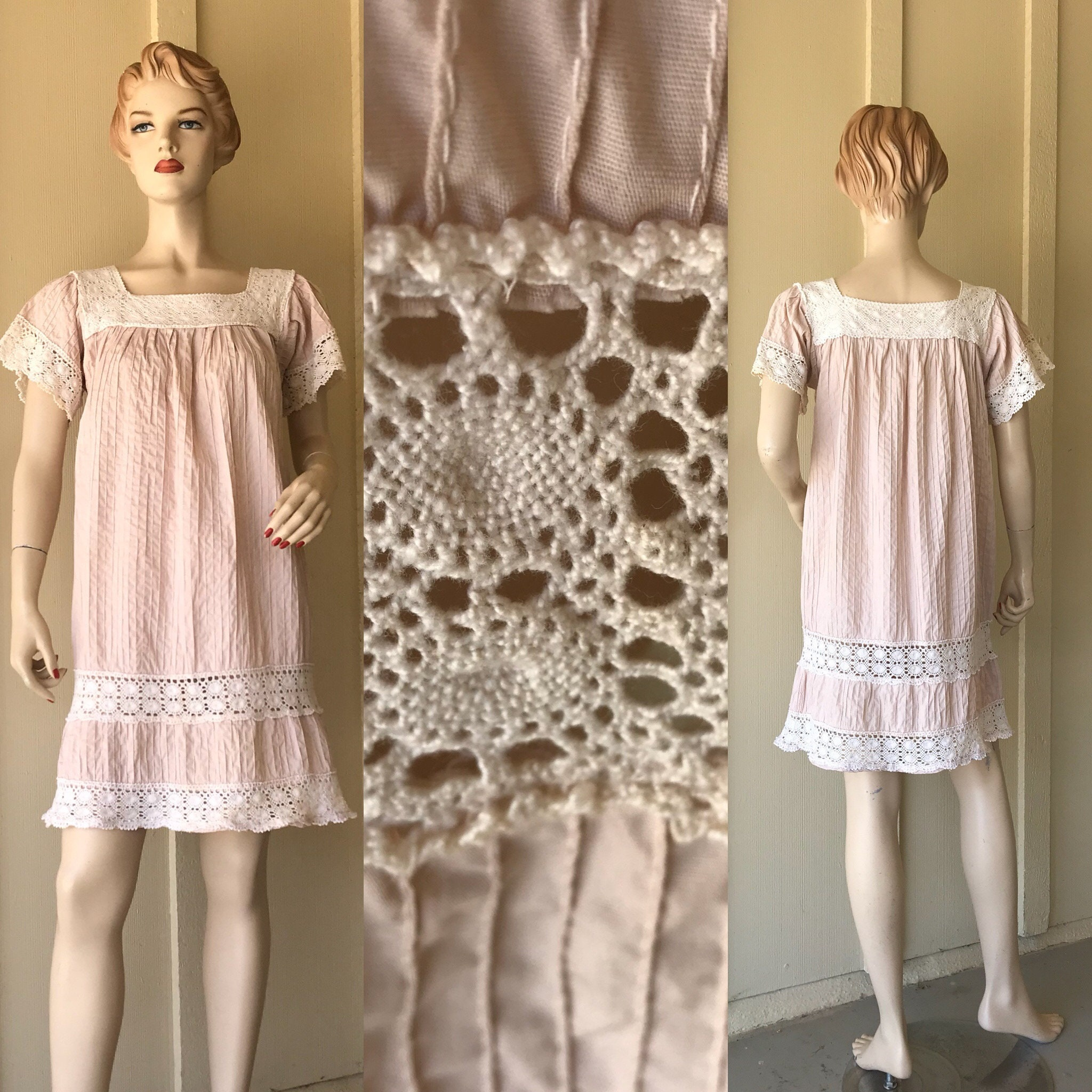 b90e273acfad Vintage mexican dress peasant hippie dress short etsy jpg 2048x2048 Vintage  mexican fashion