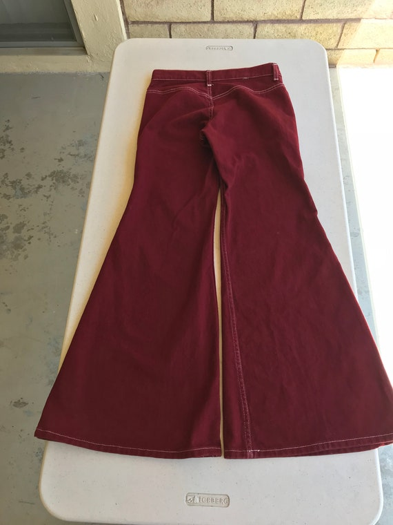 Early 1970's Vintage Levi's ~ Maroon Red Levi Bel… - image 2