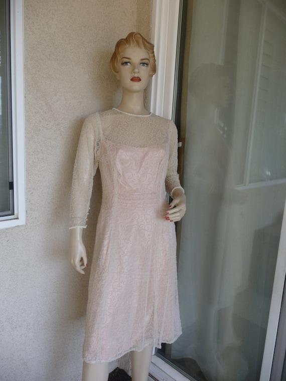 Gorgeous Vintage 1940's Sparkling Evening Dress ~