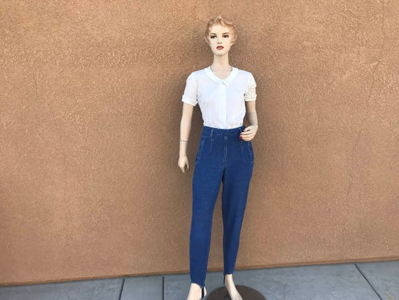 Vintage Jeans Pants ~ High Waisted Jeans ~ Zips Up