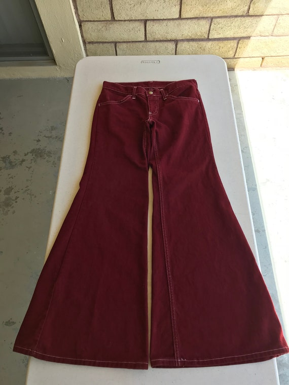 Early 1970's Vintage Levi's ~ Maroon Red Levi Bell