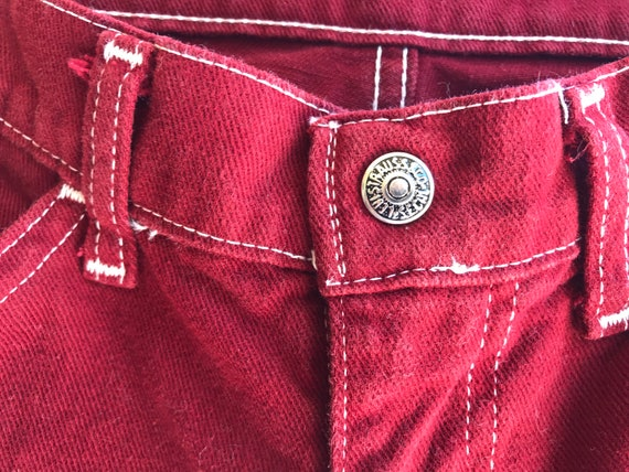 Early 1970's Vintage Levi's ~ Maroon Red Levi Bel… - image 5