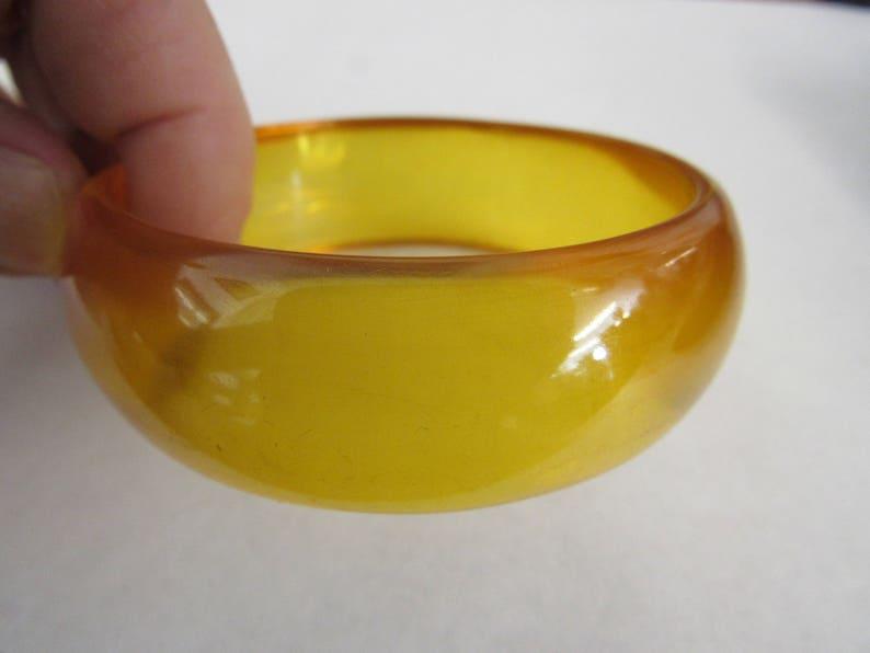 Prystal Yellow Bakelite Bangle Tested