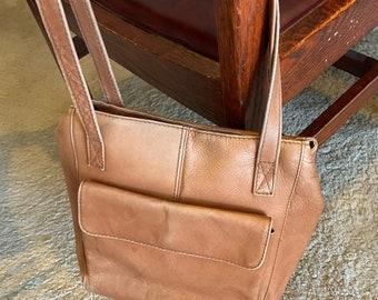 Vintage Hobo International Brown Leather Shoulder Bag