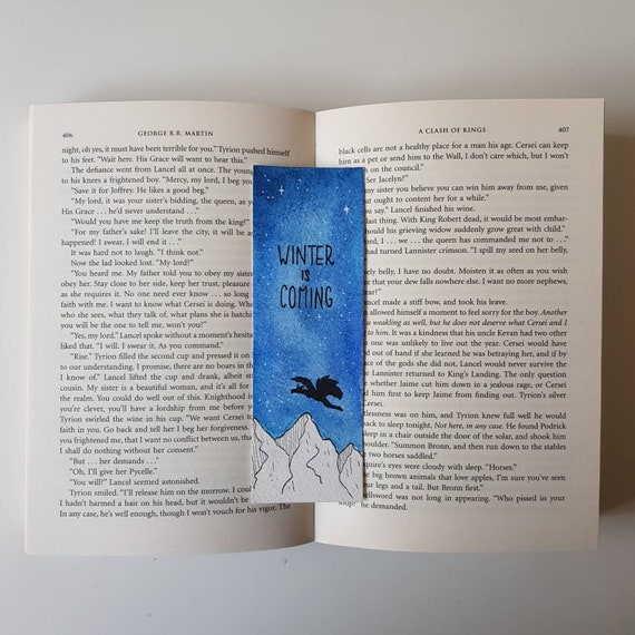 Bookmark Game Of Thrones Inspired Etsy