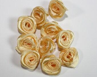 Wedding Bouquet Miniature Accessories, Light Yellow Mini Roses Craft, Jewelry Design Miniature Roses