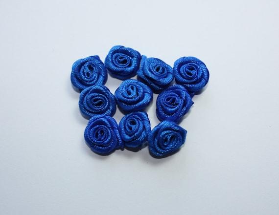 Fournitures de mariage, Roses fleur bleue électrique, idée de métier Satin, Ruban Rose Design