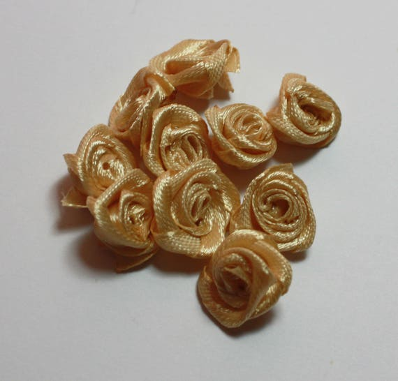 Satin Nude Miniature Roses Wedding Bouquets Artificial Etsy