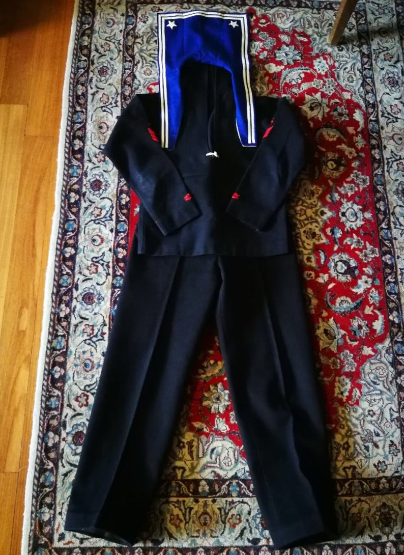 Italian marine uniform in wool from the 50s identical to the one used in WW2