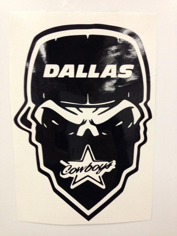 Items Similar To Dallas Cowboy Skull Decal Free Shipping