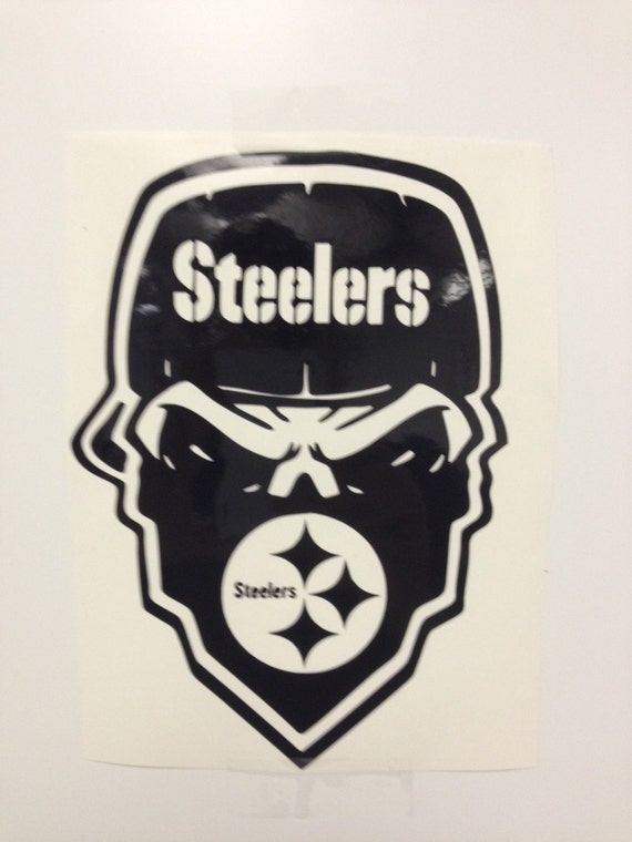 Pittsburgh Steelers Skull Decal free shipping