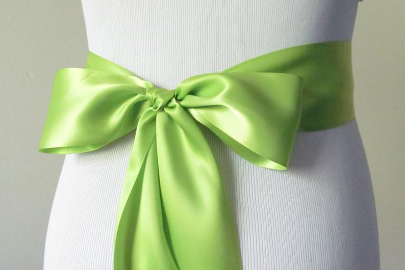 Moss Double Faced Satin Ribbon Sash Bridal Wedding Bridesmaid Brand New