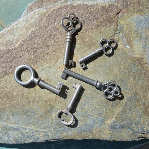 image 0 - 5 Antique Furniture Keys Cabinet Keys Antique Barrel Keys Etsy