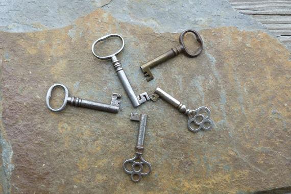 Five Antique Furniture Keys Antique Cabinet Keys Antique Barrel Keys - Five Antique Furniture Keys Antique Cabinet Keys Antique Etsy