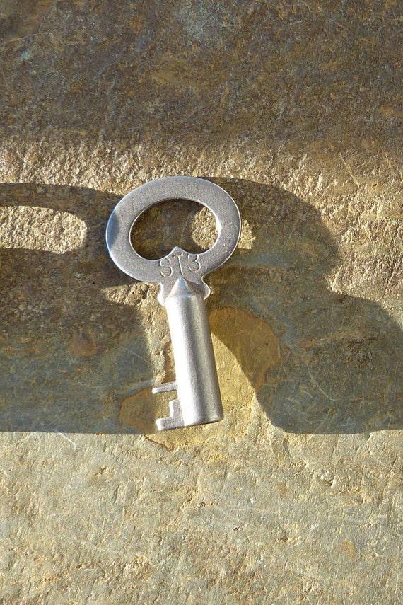 Antique Steamer Trunk Key Corbin T122